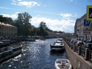 A beautiful canal that crosses Nevsky Prospekt