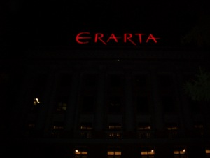 The Erarta Modern Art Museum after hours