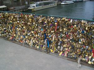 Pont de l'Archevêché where my friends and I added our padlock to the collection as a sign of our friendship