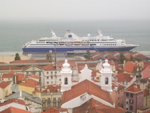 The MV Explorer in all it's glory docked in Lisbon